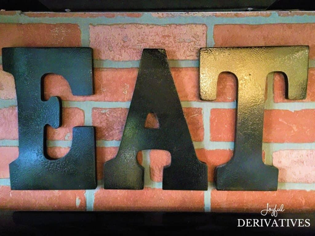 Brick Backsplash After