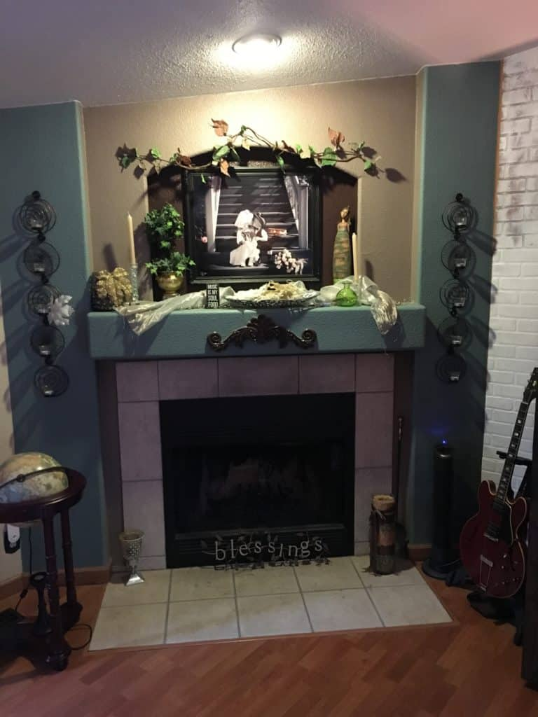From Cluttered To Classy A Rustic Glam Fireplace