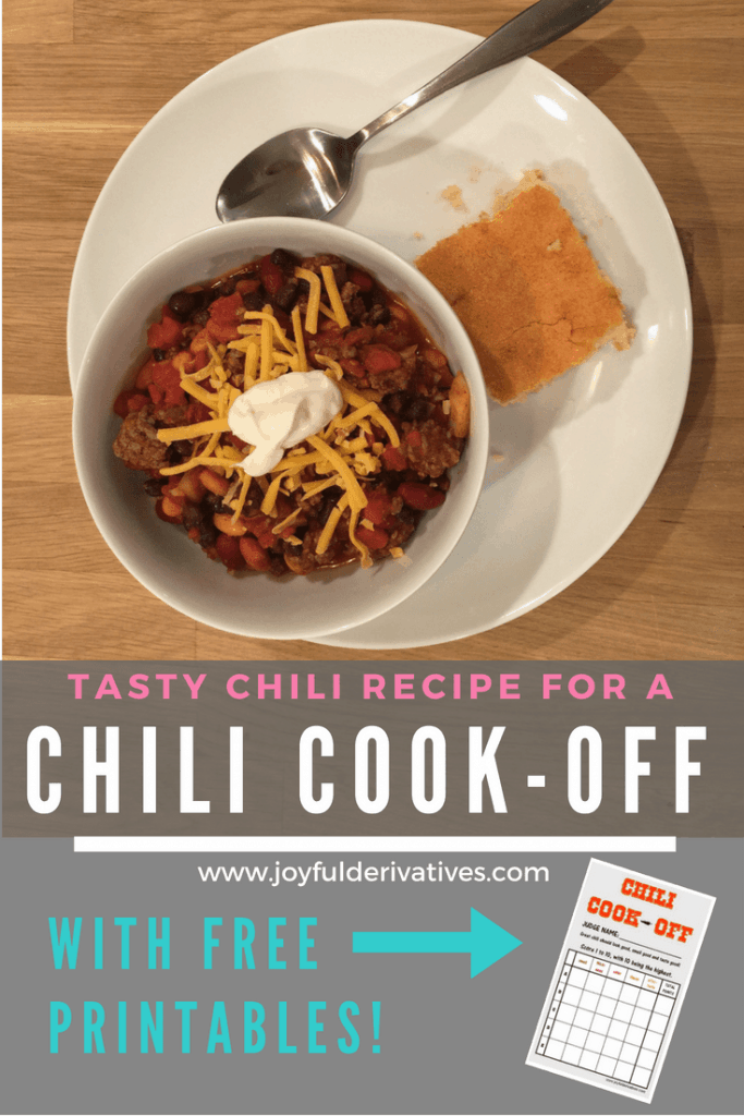 Best Crockpot Chili Recipe And Free Chili Cook Off Printables Joyful Derivatives