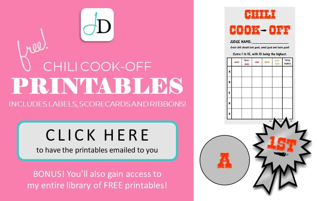 Best Crockpot Chili Recipe And Free Chili Cook Off Printables