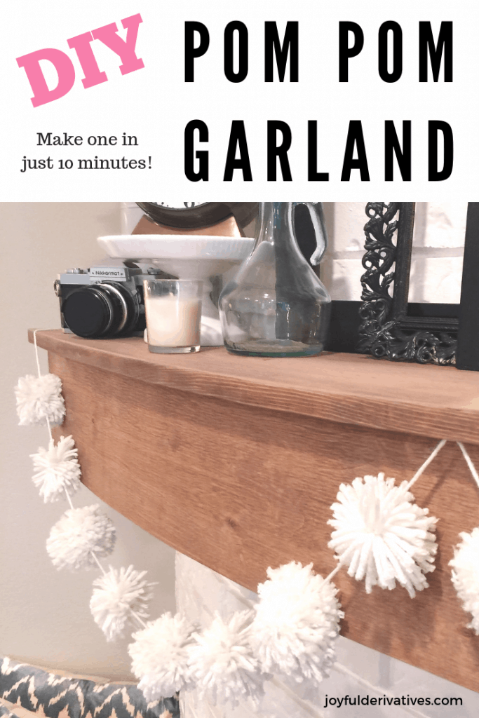 Pin image for a simple diy pom pom garland.