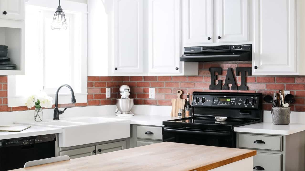 - How To Install Faux Brick Backsplash In A Kitchen - Joyful Derivatives