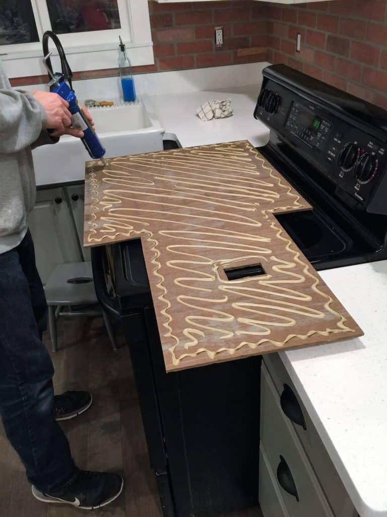 Brick Backsplash Installation