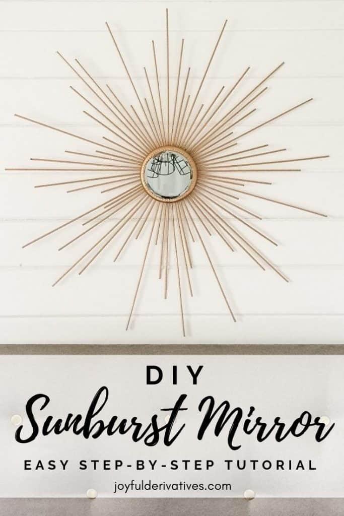 How To Make A Fabulous Diy Sunburst Mirror For Cheap Joyful Derivatives