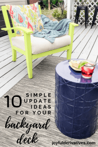 10 simple backyard deck ideas for updating your deck or pergola.