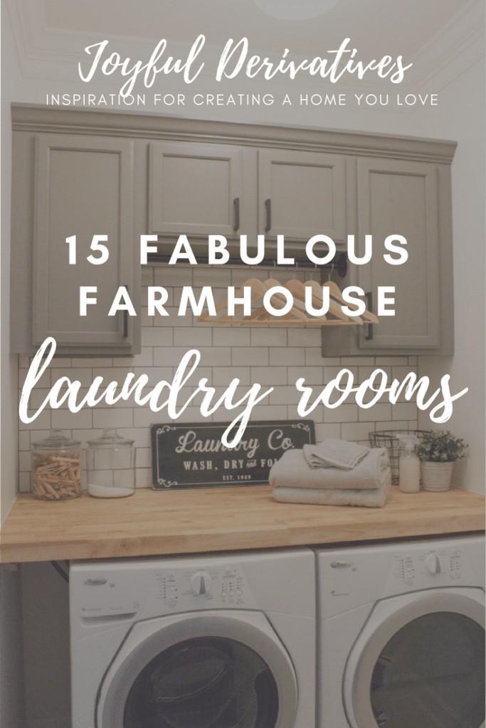 15 Fabulous Farmhouse Laundry Room Design Ideas Joyful Derivatives