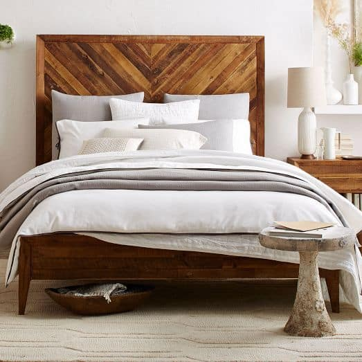 How to Build a West Elm Inspired DIY Wood Headboard - Joyful Derivatives