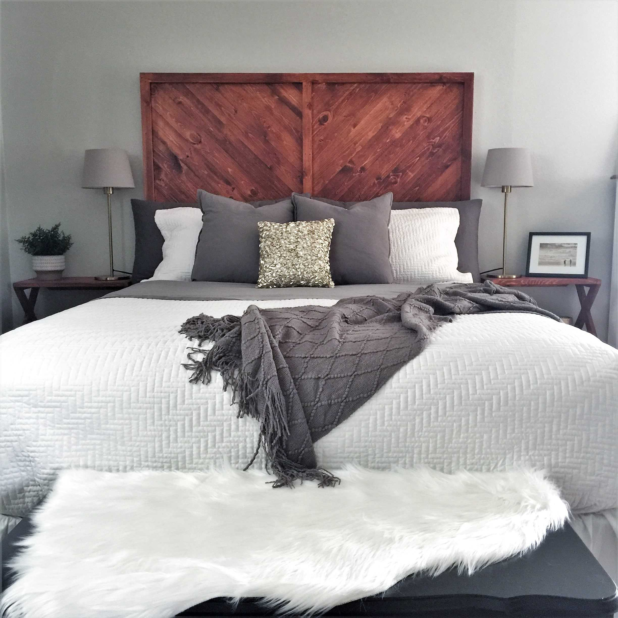 Chevron DIY Wood Headboard