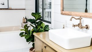 Farmhouse Bathroom Makeover on a Budget!