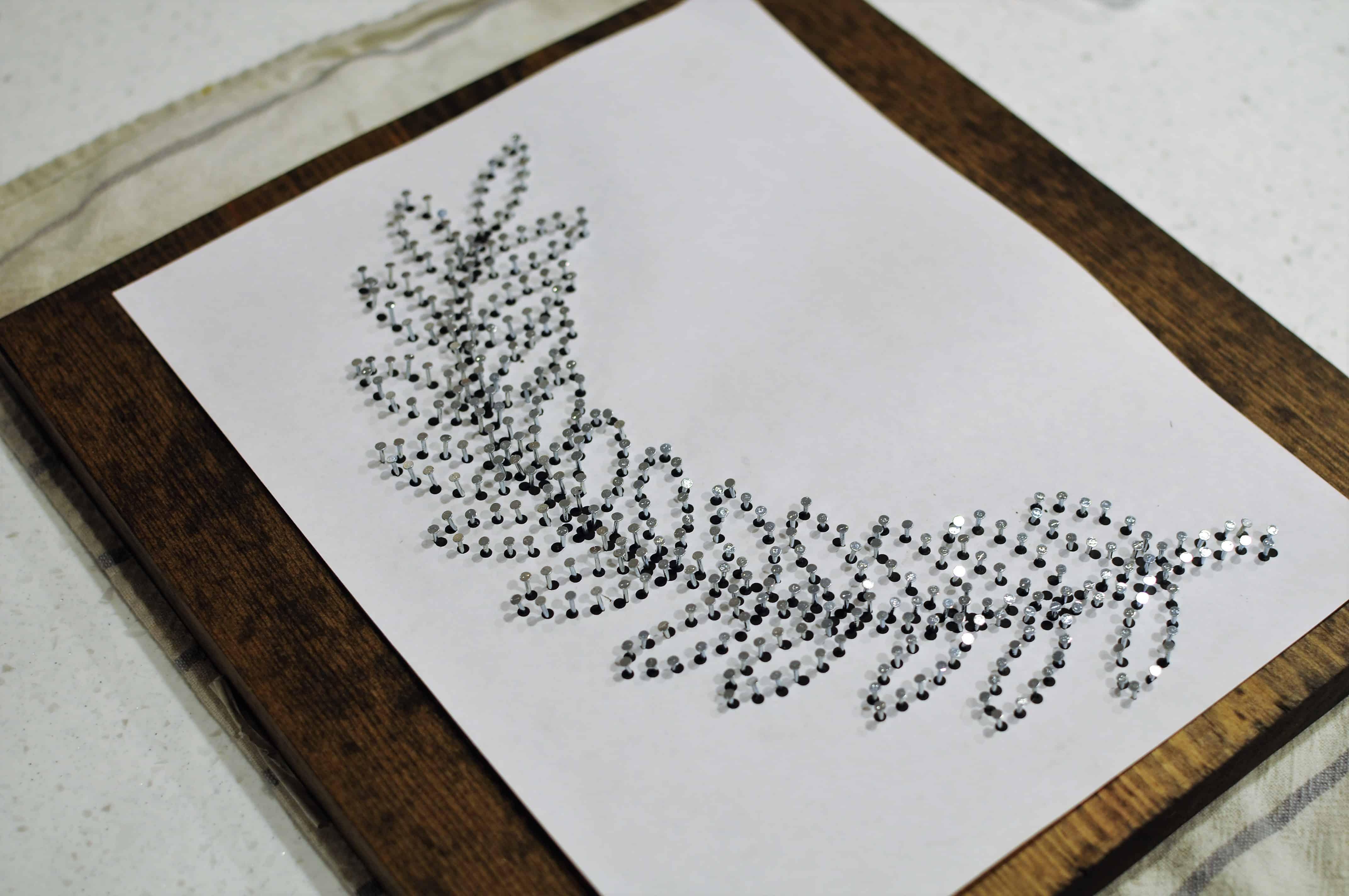 diy string art pattern