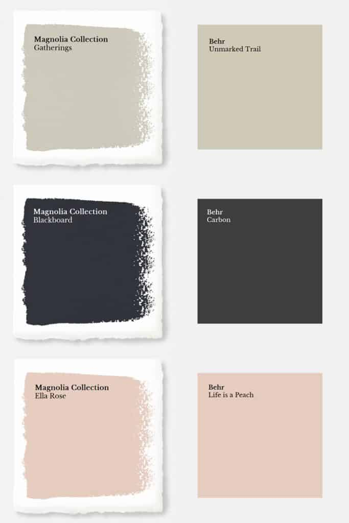 Market Collection Of Magnolia Paint Each Color Matched To Behr