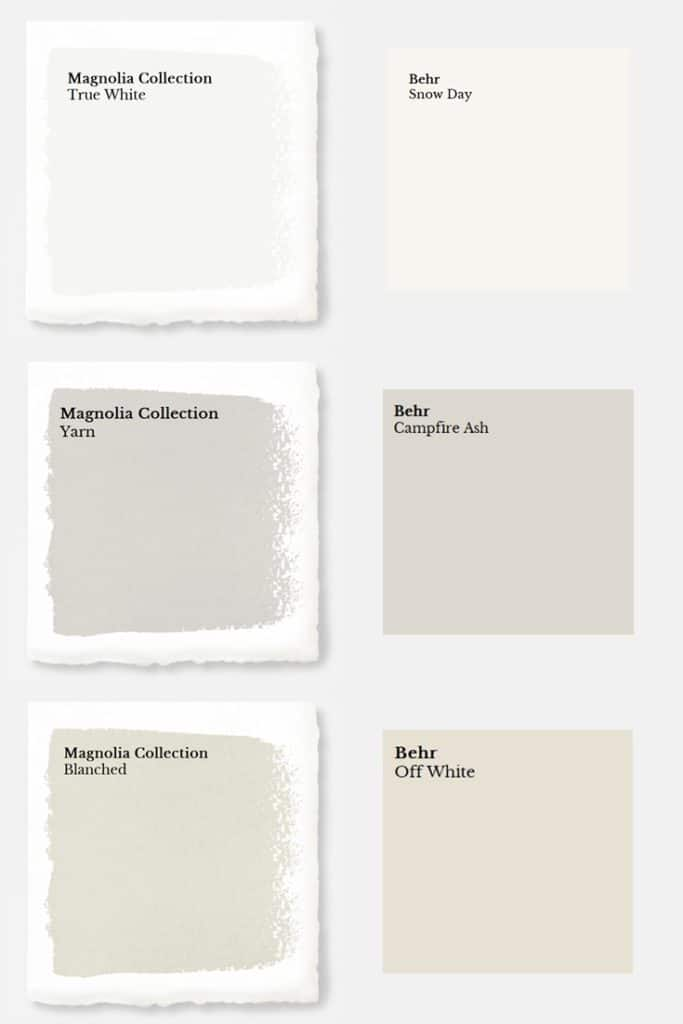 Other Non Market Collection Magnolia Paints Each Color Matched To Behr Paint