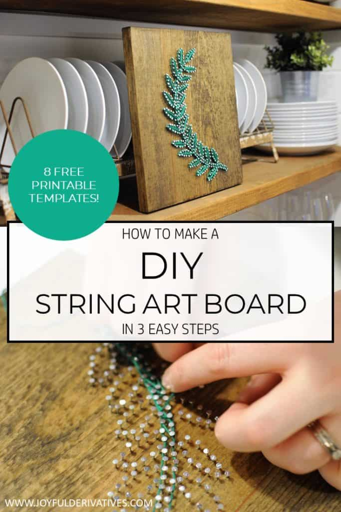 How To Make Diy String Art In 3 Steps With Free Printable Joyful