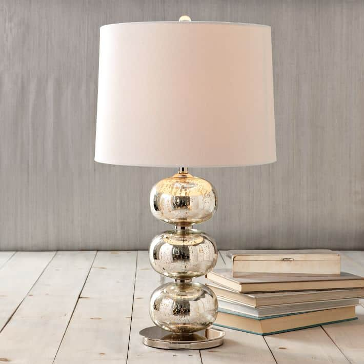 West Elm Mid Century Knock Offs - West Elm Mercury Glass Lamp