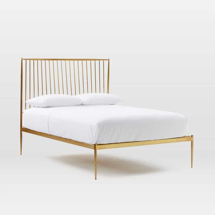 West Elm Mid Century Knock Offs - West Elm Gold Bed