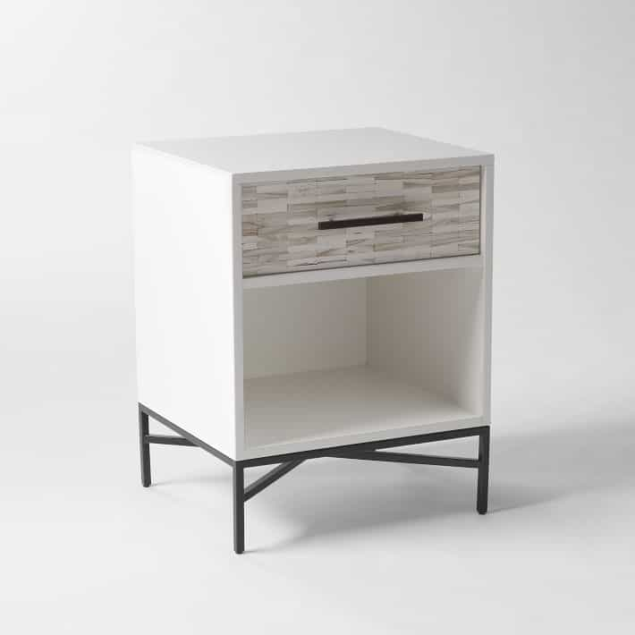 West Elm Mid Century Knock Offs - West Elm White Nightstand