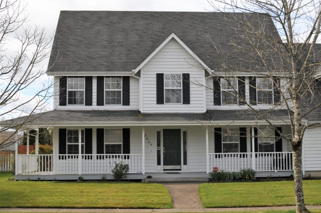 This Combination Of A White House And Trim With Black Shutters Is A Classic  And Commonly Used Exterior Paint Scheme U2013 And Youu0027ll Find That It Is  Currently ...