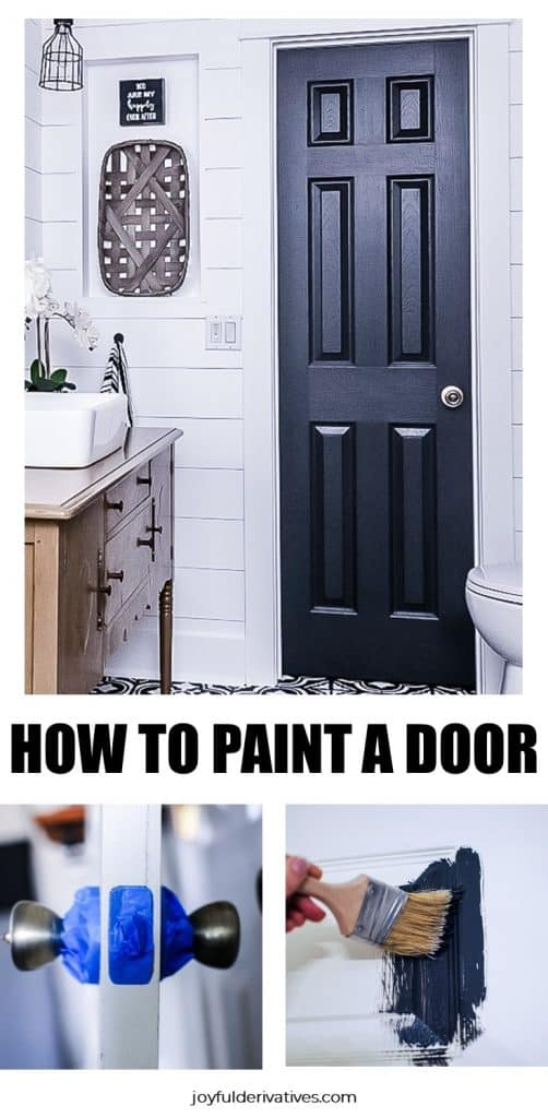 Instructions for how to paint an interior door with panels.