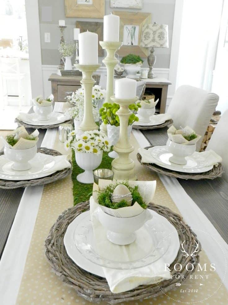 Easter Table Centerpiece by Bre at Rooms For Rent