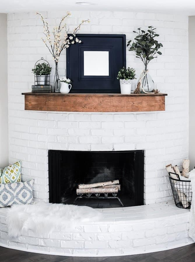 Modern Farmhouse Summer Mantel Decorating Ideas - Joyful ...