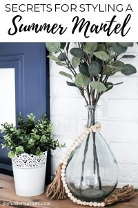 Simple spring or summer mantel decorating ideas.