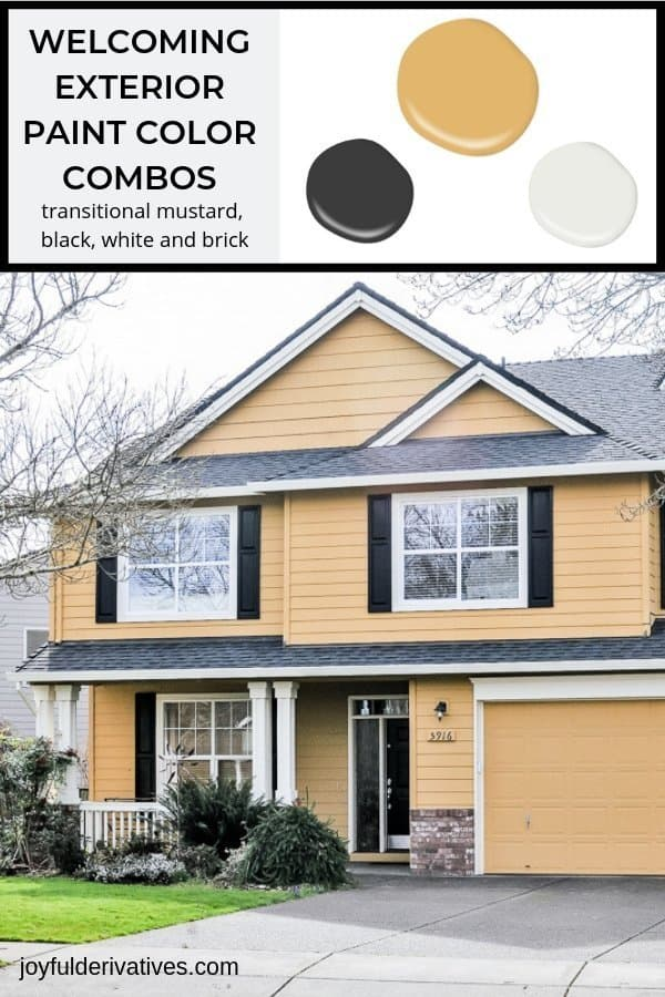 5 Welcoming Exterior Paint Color Combinations - Joyful