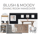 Blush & Moody Dining Room Makeover – ORC Week 1 – The Plan