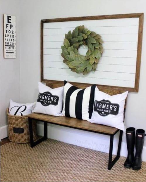 Creative shiplap wall ideas and more - like framed shiplap wall art!