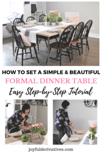 Tutorial for how to set a simple table setting that wows your guests.