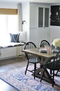 Dining Room with a Window Seat