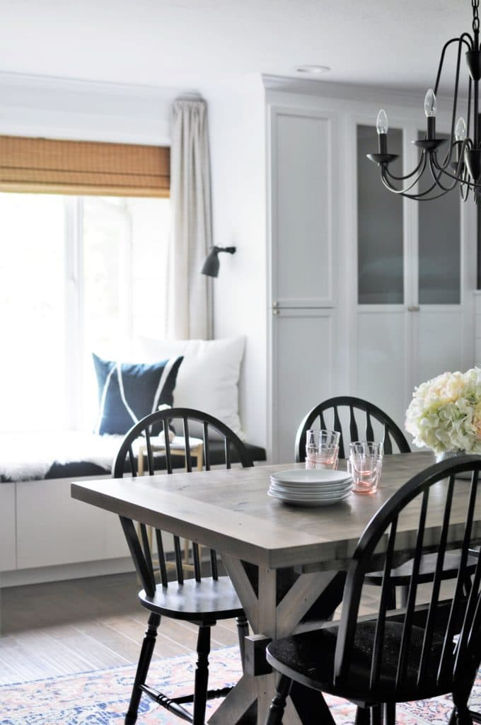Window Seat in a Dining Room