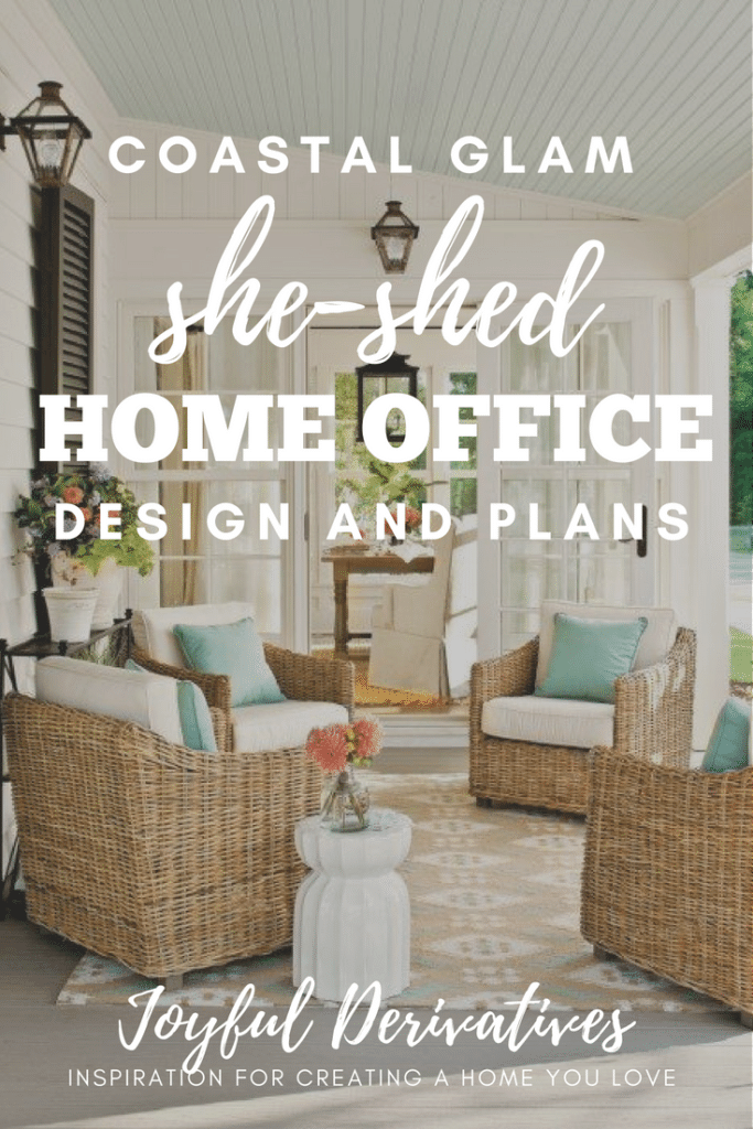 Southern porch inspiration for a she-shed home office design.