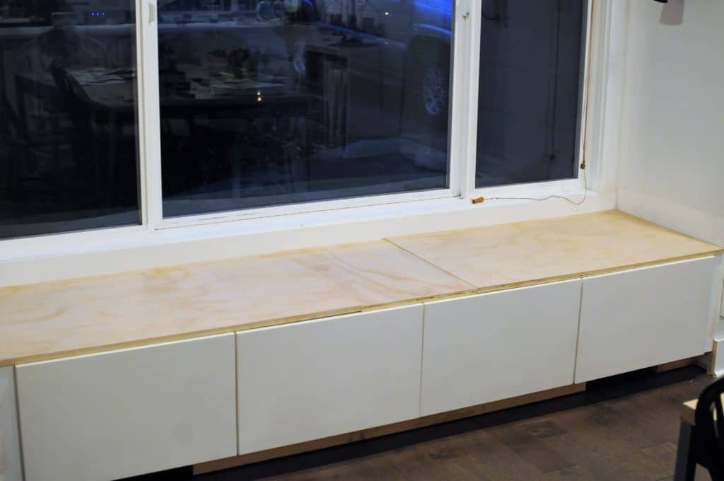 Diy Window Seat With Storage Out Of Ikea Cabinets Joyful Derivatives