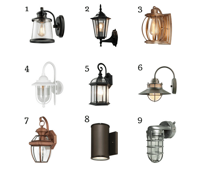 Nine affordable exterior lights from amazon