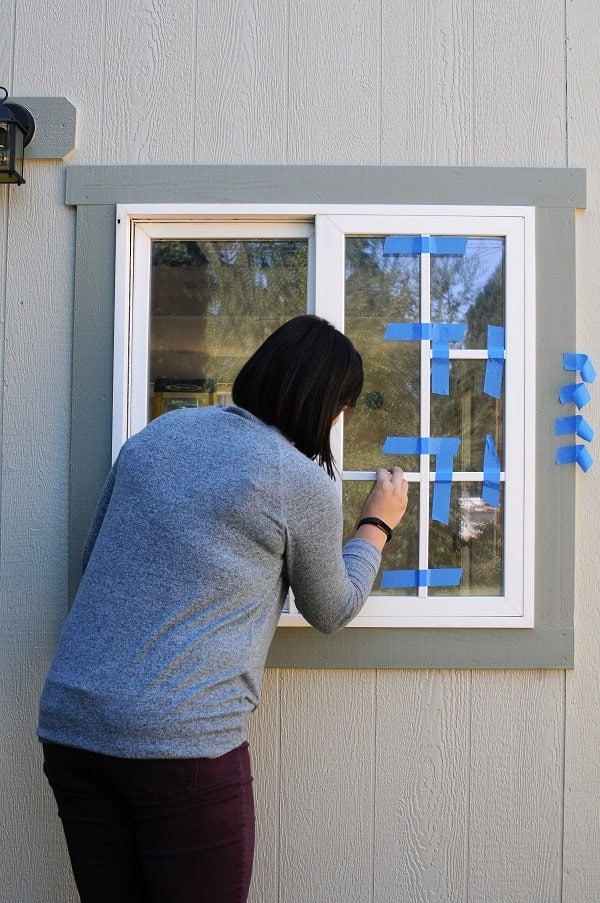 When you install a window grid, be sure to prep your painter's tape before you start gluing.