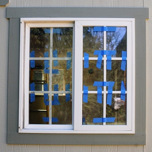 "Install trim on both ""outer"" sides of the window when you install a window grid."