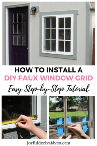 Install a window grid using trim, electrical tape and super glue!