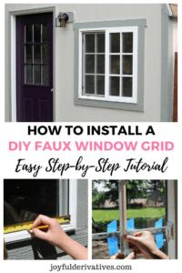 Install a window grid using trim, electrical tape and super glue!