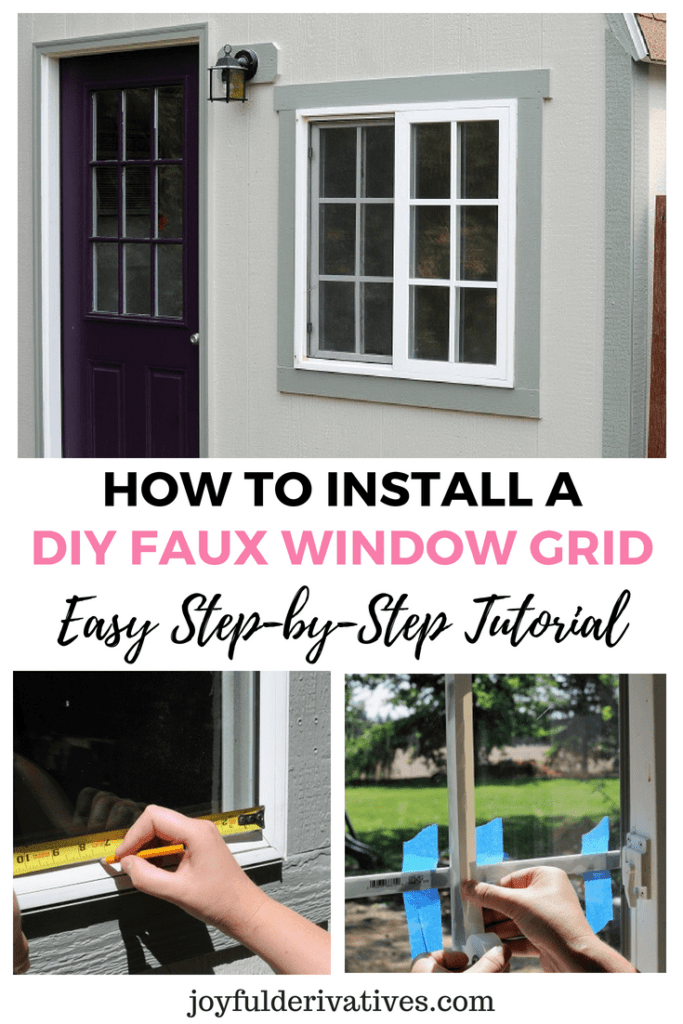 Install A Window Grid Using Trim Electrical Tape And Super Glue