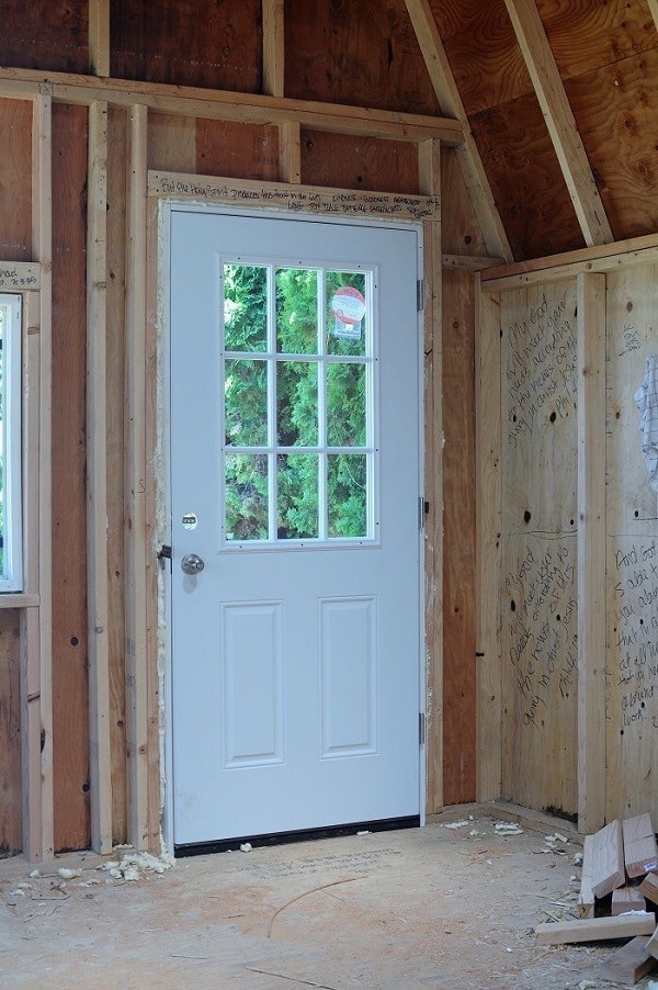 New front door in she shed.