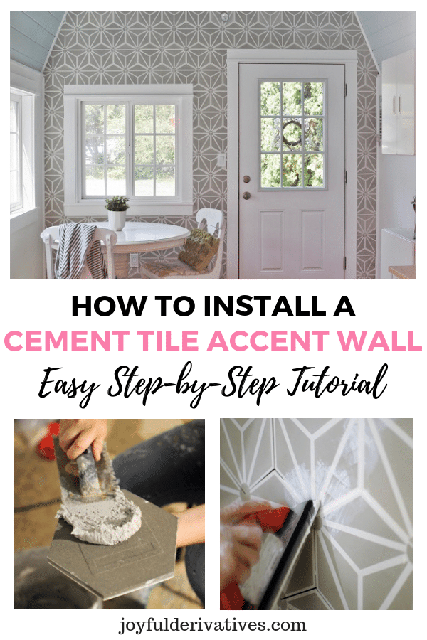 How To Install A Cement Tile Accent Wall Diy Tutorial