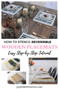How to make DIY placemats out of wood, paint and a stencil.