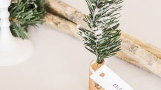 Christmas Name Place Holders - DIY Cork Trees