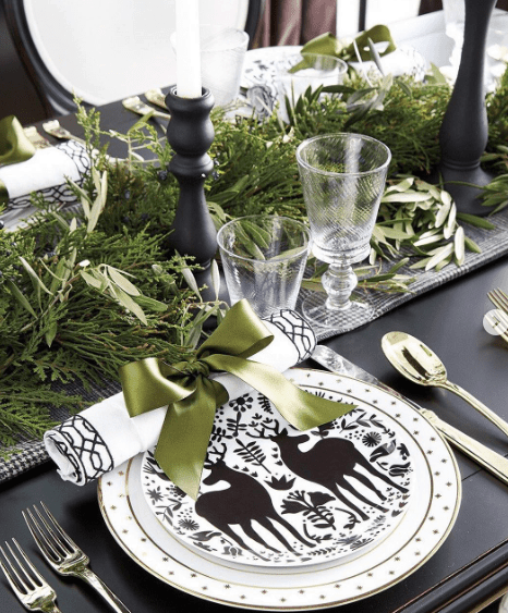 Simple and modern christmas table settings ideas joyful - Modern christmas table settings ideas ...