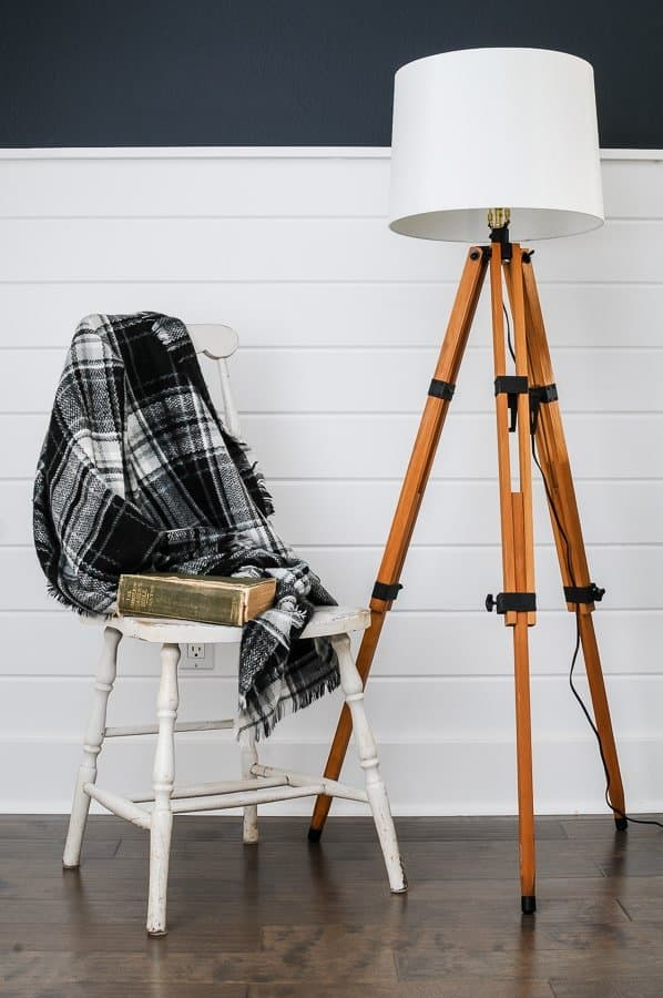 DIY Floor Lamp Tutorial for Making a DIY Tripod Lamp.