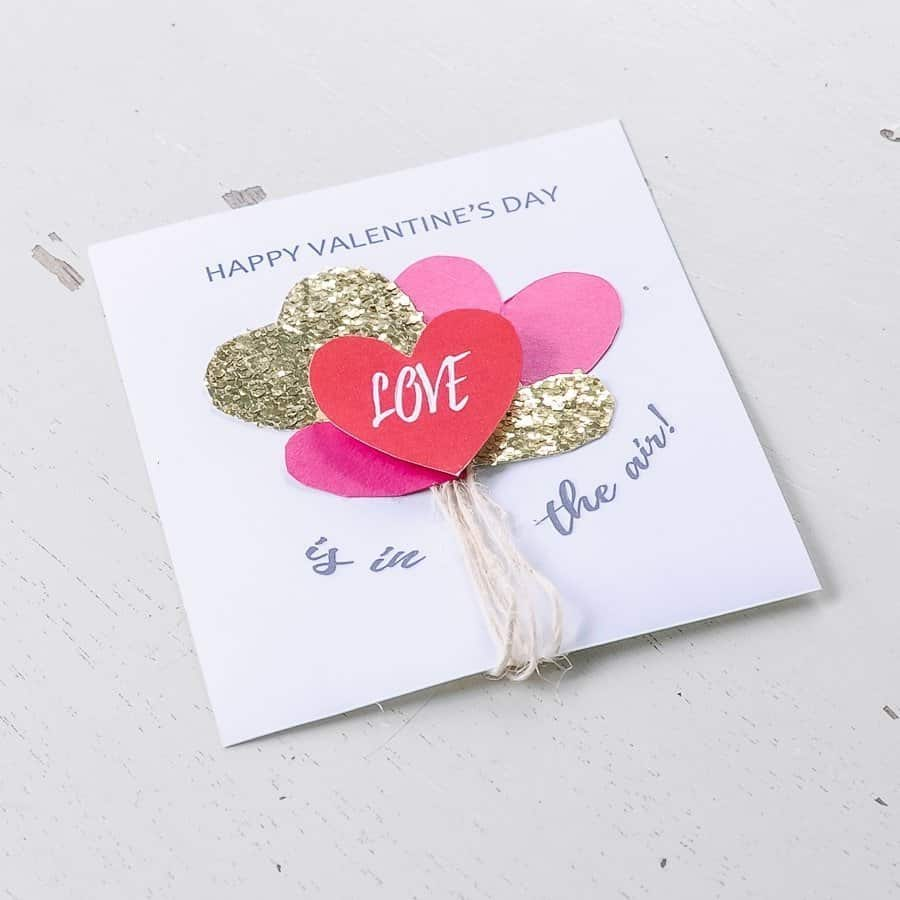 DIY homemade valentines with free printable.