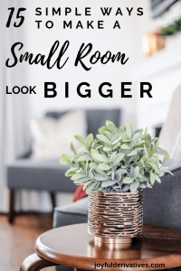 15 small room ideas for how to make a small room look and feel bigger.