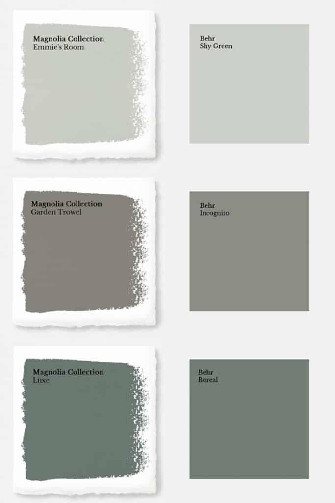 Magnolia paint color match to behr