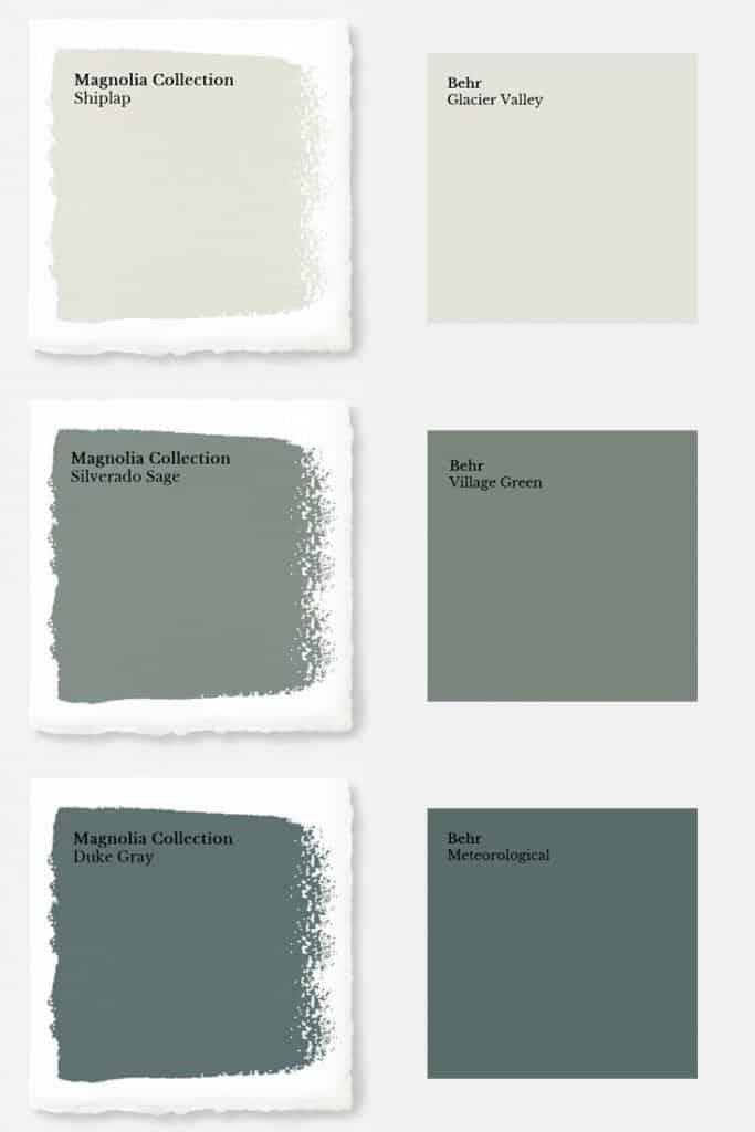 magnolia paint colors matched to behr joyful derivatives. Black Bedroom Furniture Sets. Home Design Ideas