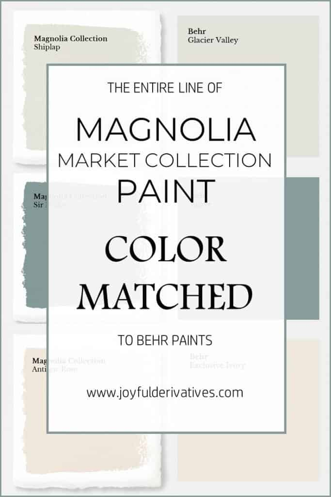 Magnolia Paint Colors Matched To Behr Joyful Derivatives